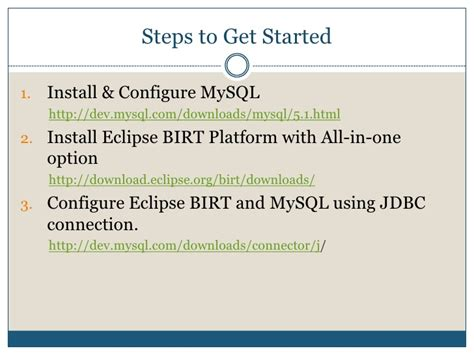 configure xp mysql installating and configuring java mysql and birt