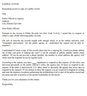 sample records request letter