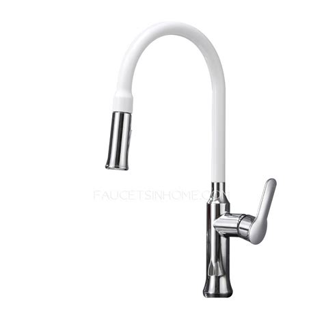 white kitchen faucets pull out white kitchen taps with pull out spray