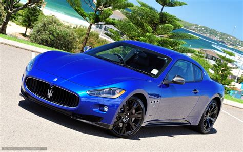 maserati granturismo blue wallpaper maserati gran turismo sports car