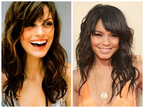 before snd after oval shapped face hair cuts the best bang hairstyles for oval face shapes women