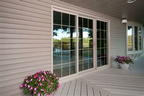 vinyl sliding patio door prices exterior view of simonton profinish sliding patio door