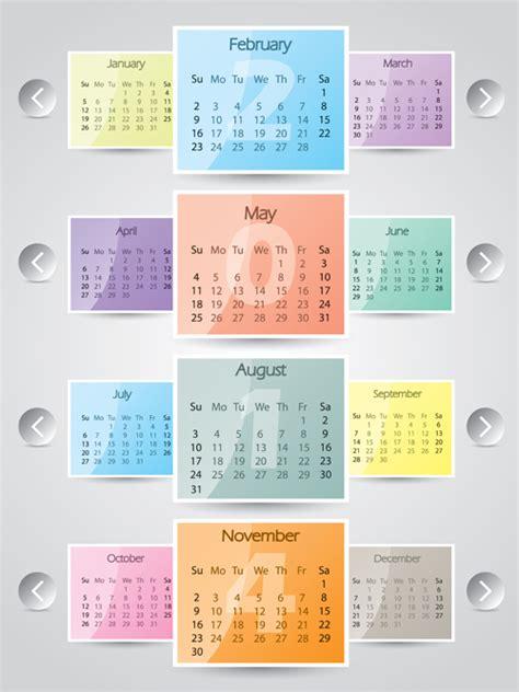 calendar design elements best calendars 2014 design elements vector 04 vector