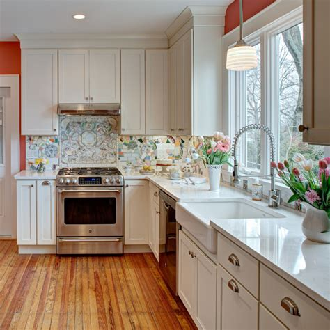 Vintage cottage kitchen remodel in nutley nj interior
