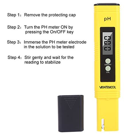 Ph Meter Air Digital Vantacool Digital Ph Meter Ph Tester With Atc Water