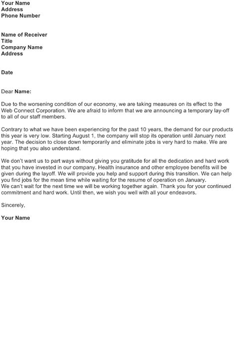 lay announcement letter
