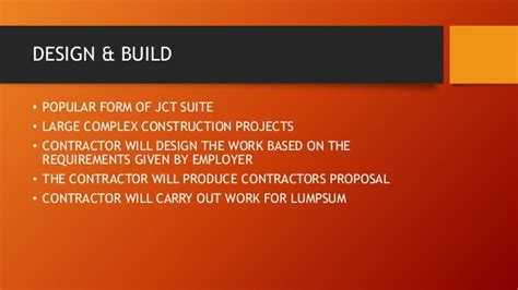 jct design and build contract db 2011 edition fidic jct and nec contracts