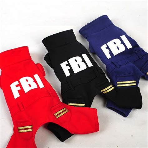 Sweater Fbi Noval Clothing black fbi hoodie clothes 100 cotton puppy coat clothing for dogs leisure outdoor