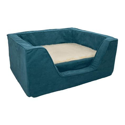 foam dog bed luxury square dog bed with memory foam by snoozer pet products