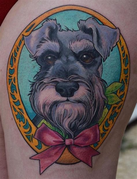 schnauzer tattoo the 8 coolest schnauzer designs in the world