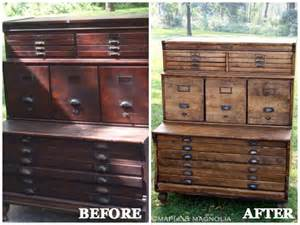 Easy Kitchen Cabinet Makeover - furniture makeovers with stain diy furniture before and afters