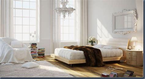 Bedroom Design White Wood Room Enviroment Modeling Bedroom White And Wood