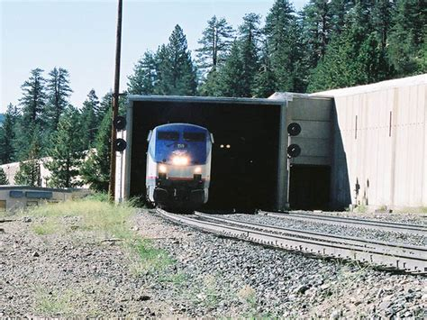 Ill Pass On The Railroad Stripes by Amtrak 159 East At Norden Near The Summit Of Donner Pass