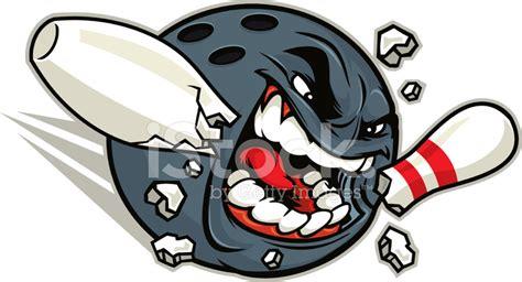 mad bowler mascot stock vector freeimages com