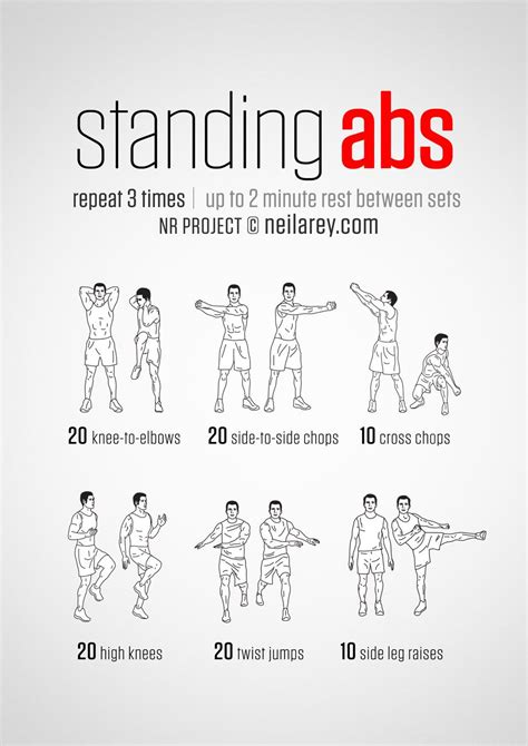 pin  dante grady  exercise standing abs standing ab