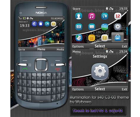 download themes for mobile nokia c3 mobile phones illumination for s40 theme for nokia c3
