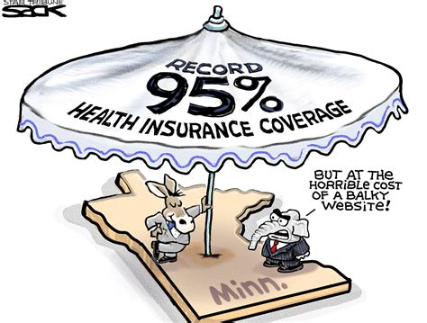 Sack cartoon: The health insurance umbrella   StarTribune.com