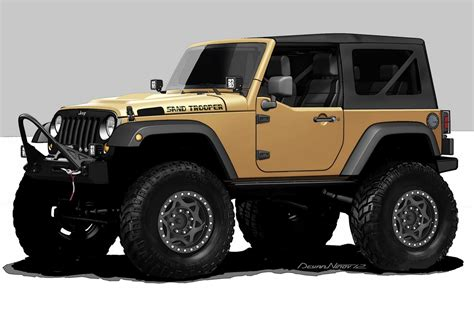 Jeep Tj 4x4 Jeep Wrangler Sand Trooper Hemi 4x4 For 2012 Sema