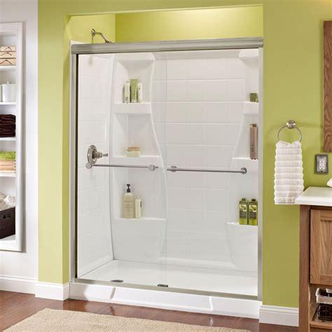 Delta Lyndall 60 In X 70 In Semi Frameless Sliding Semi Frameless Glass Shower Doors