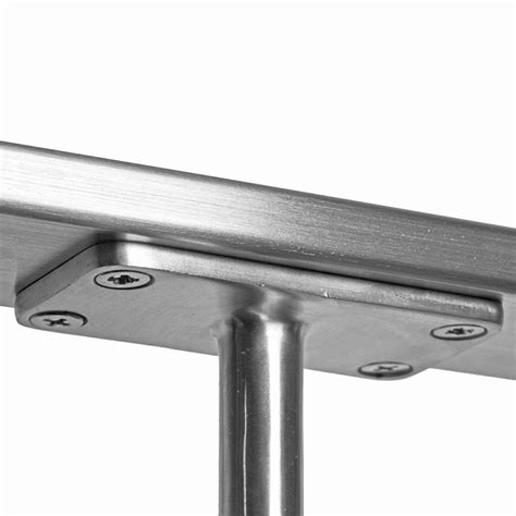 stainless steel l post post cap flat top rail mount for 2 quot round rail