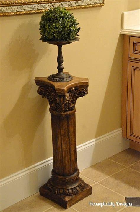 Plaster Pedestal Columns Apply Sloan Wax To Those White Plaster