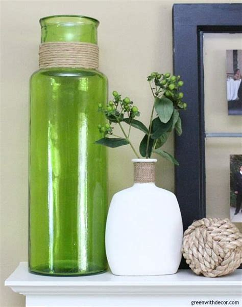 Real Simple Ideas For Simple Glass Vases By An Easy Way To Diy Faux Concrete Vases Green With Decor