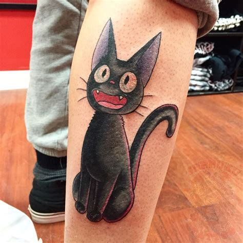 jiji  black cat tattoo
