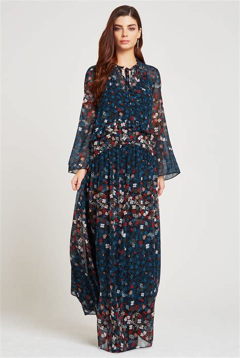 Dress Cantik Saphira Maxi Dress floral flare sleeve maxi dress