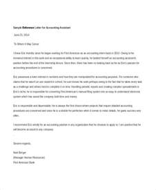 Letter For Accountant accountant reference letter templates 9 free word pdf
