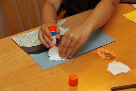 How To Make Paper Glue - torn paper collage pi ikea st
