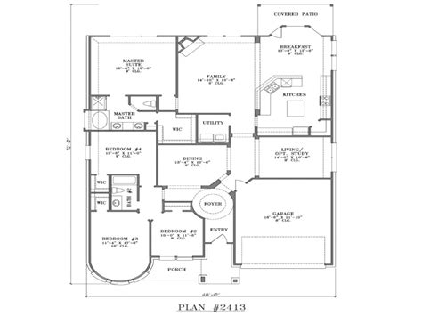 5 Bedroom House Plans Single Story by 4 Bedroom One Story House Plans 5 Bedroom One Story