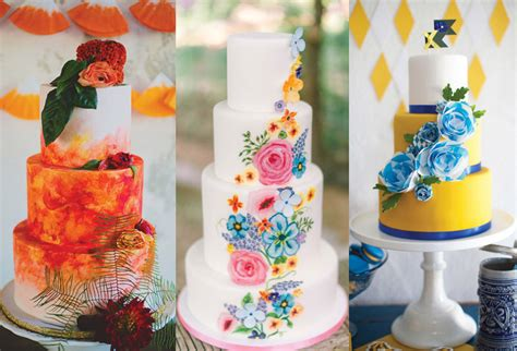 Colourfull Cake colorful wedding cakes from cake artists