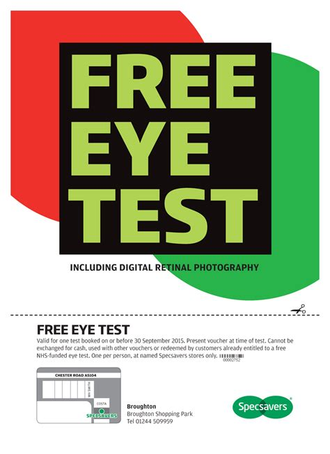 eye test specsavers voucher free eye test broughton shopping in