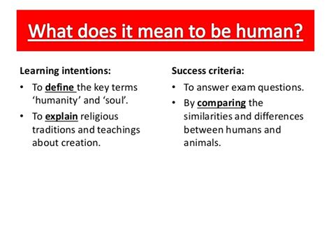 what does it to be a what does it to be human