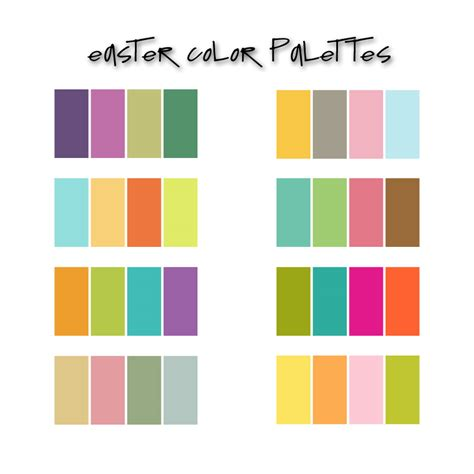 kids color pallette easter palettes colors pinterest easter color