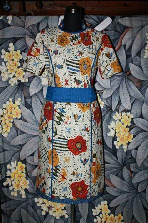 Dress Batik Tulis Kombinasi Embos dress batik tulis cirebon klambi batik