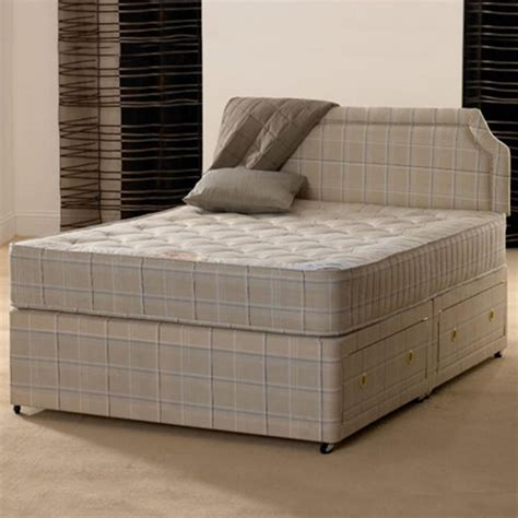 Bed With Mattress by 4ft 6 Orthopaedic Divan Bed With Mattress Ebay
