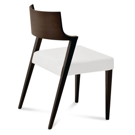 Wenge Dining Chair Lirica Wenge Dining Chair In White Leather
