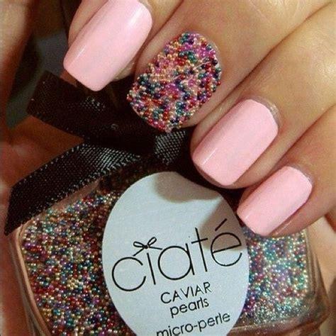 interesting textured nail design aelida