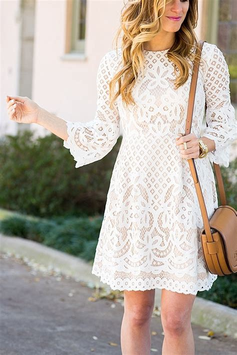 Bell Sleeve Lace Dress white lace bell sleeve dress brightontheday