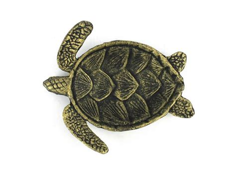 Turtle Home Decor | buy antique gold cast iron sea turtle decorative bowl 7