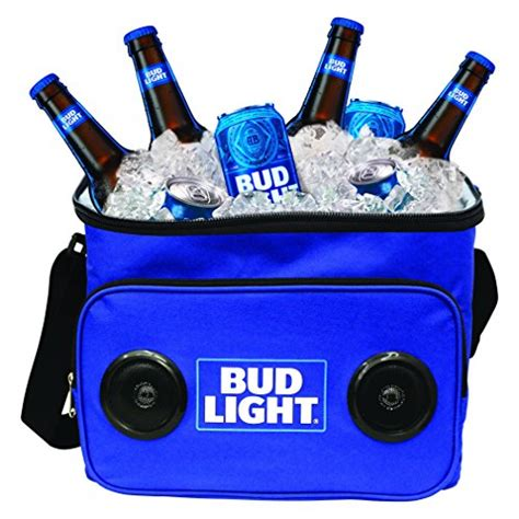 bud light recliner with cooler bud light soft cooler bag with built in bluetooth speakers
