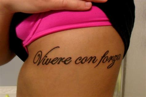 italian tattoo quotes about strength my tattoo on my ribs quot living with strength quot in italian