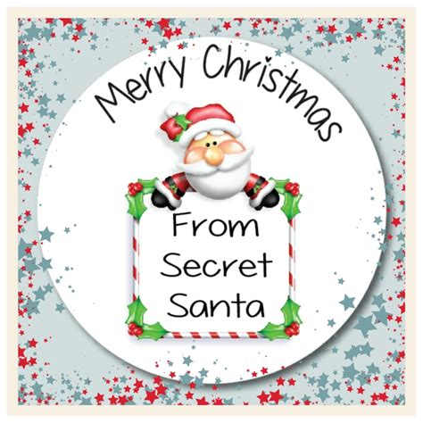 15 secret santa christmas gift labels