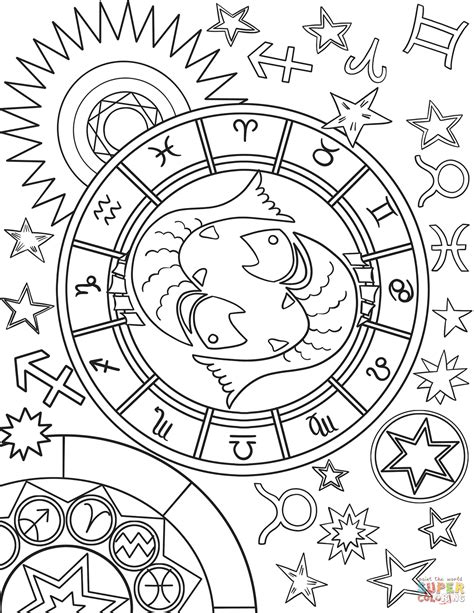 printable zodiac coloring pages pisces zodiac sign coloring page free printable coloring