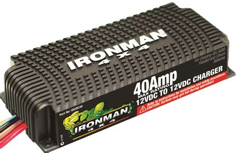 dc chargers 40a dc to dc battery charger ironman 4x4