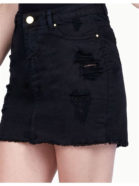 Ripped Denim black ripped denim skirt s denim skirt select