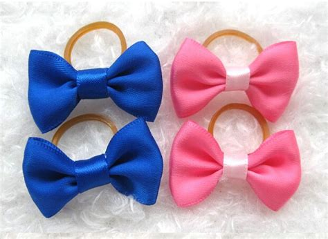 bows for yorkies hair 10 x yorkie hair bows ribbon rubber bands topknot pet hair bow grooming ebay