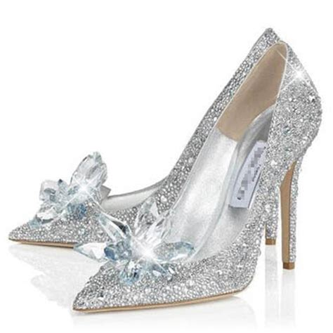 wedding shoes point toe rhinestone stilettos