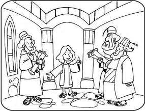 coloring pages jesus boy 12 year jesus in temple coloring search